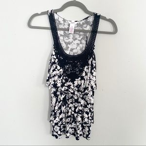 NWOT Candie's Floral Sleeveless Top